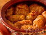 Рецепта Постни сарми за Бъдни вечер от кисело зеле с ориз в глинен гювеч на фурна